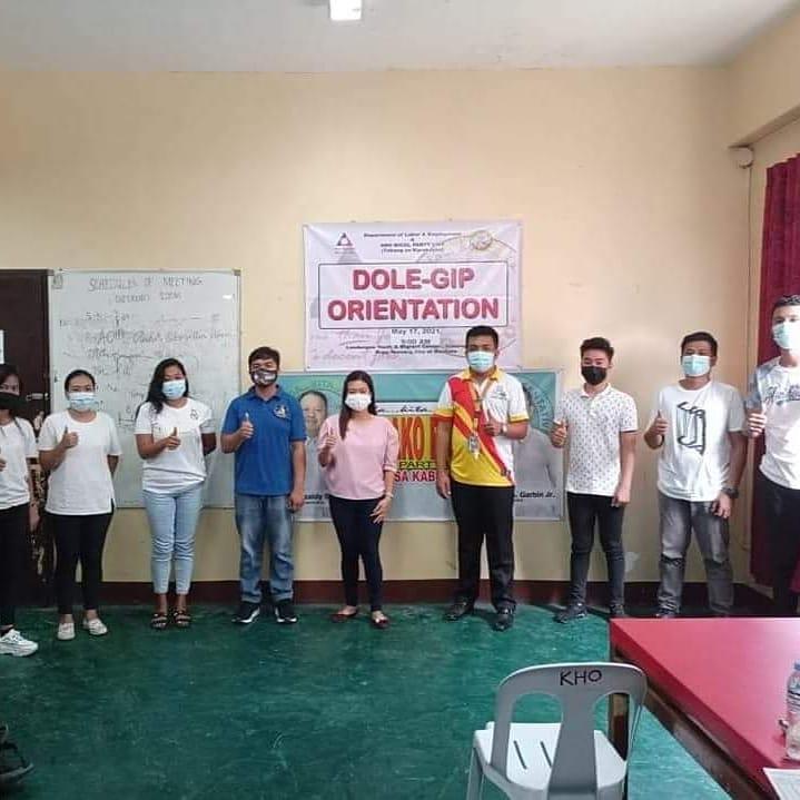 Isa na namang orientation ang ginanap para sa 24 na beneficiaries ng Department of Labor and Employment-Government Internship Program (DOLE-GIP) sa Landugan Youth and Migrant Center- Nursery, Masbate City.