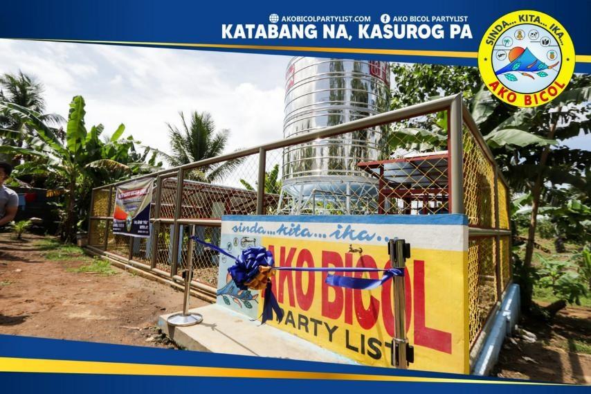 Pinasinayaan ngayon, Setyembre 9, 2021, ang tatlong Water Supply System Level II sa ilang barangay sa lungsod ng Legazpi sa pangunguna ni Ako Bicol Congressman Alfredo A. Garbin, Jr..  Ikalawang pinasinayaan ng Ako Bicol ang Water System sa barangay Bariis, Legazpi City.