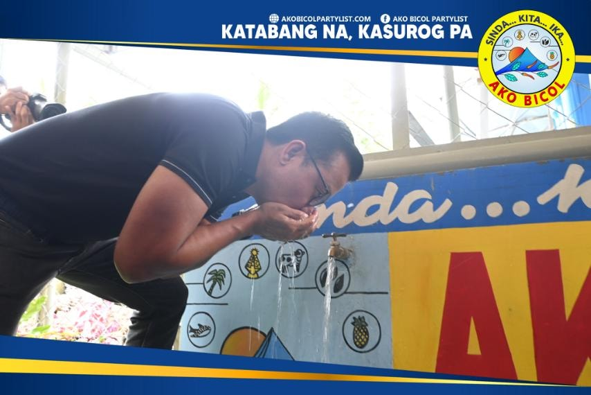 Pinasinayaan ngayon, Setyembre 10, 2021, ang Water Supply System Level II sa ilang barangay sa lungsod ng Legazpi sa pangunguna ni Ako Bicol Congressman Alfredo A. Garbin, Jr.. Isinagawa ng Ako Bicol ang Water System sa Sitio Malangka, Taysan, Legazpi City.
